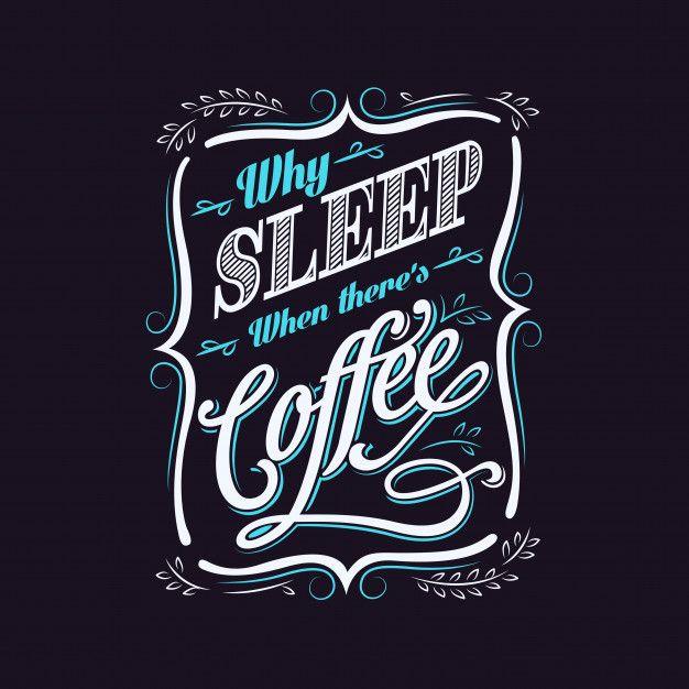 banner freeuse stock Vector coffee typography. Design premium