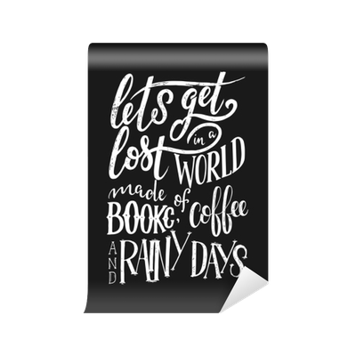 picture black and white download Vector coffee typography. Hand lettering quote with