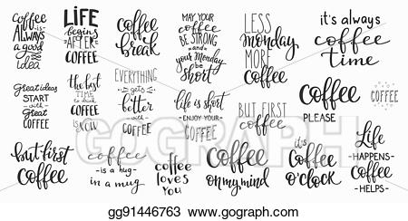 clip art transparent library Clip art quote cup. Vector coffee typography