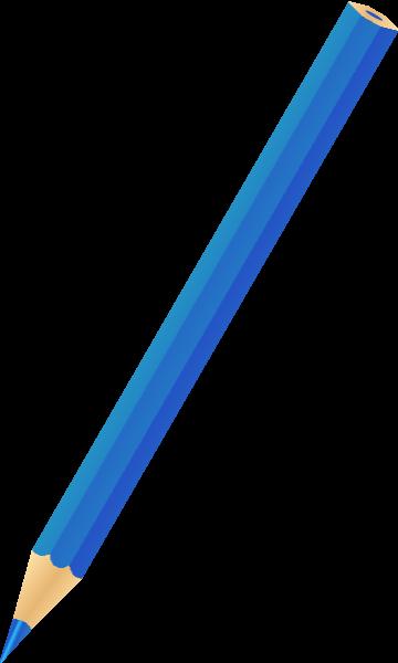 freeuse stock Pencil icon svg public. Vector color blue
