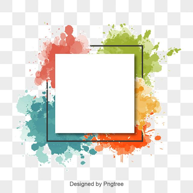 picture transparent library Watercolor png and with. Vector color border