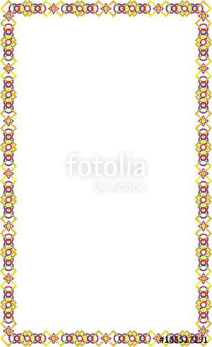 graphic transparent Celtic knot frame on. Vector color border