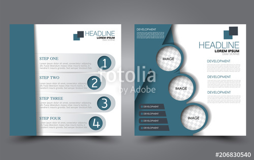 jpg free Square flyer template simple. Vector color brochure