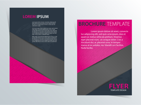 clip art free library Template design with pink. Vector color brochure