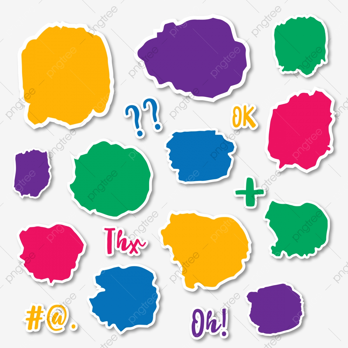 banner freeuse library Vector color bubble. Brush style bright speech