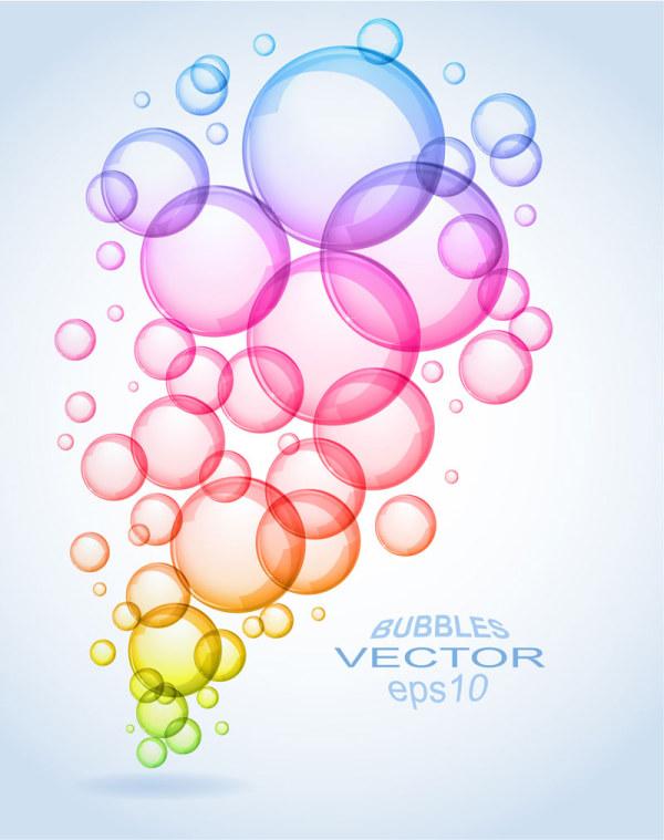 clipart transparent Vector color bubble. Bubbles elements free download