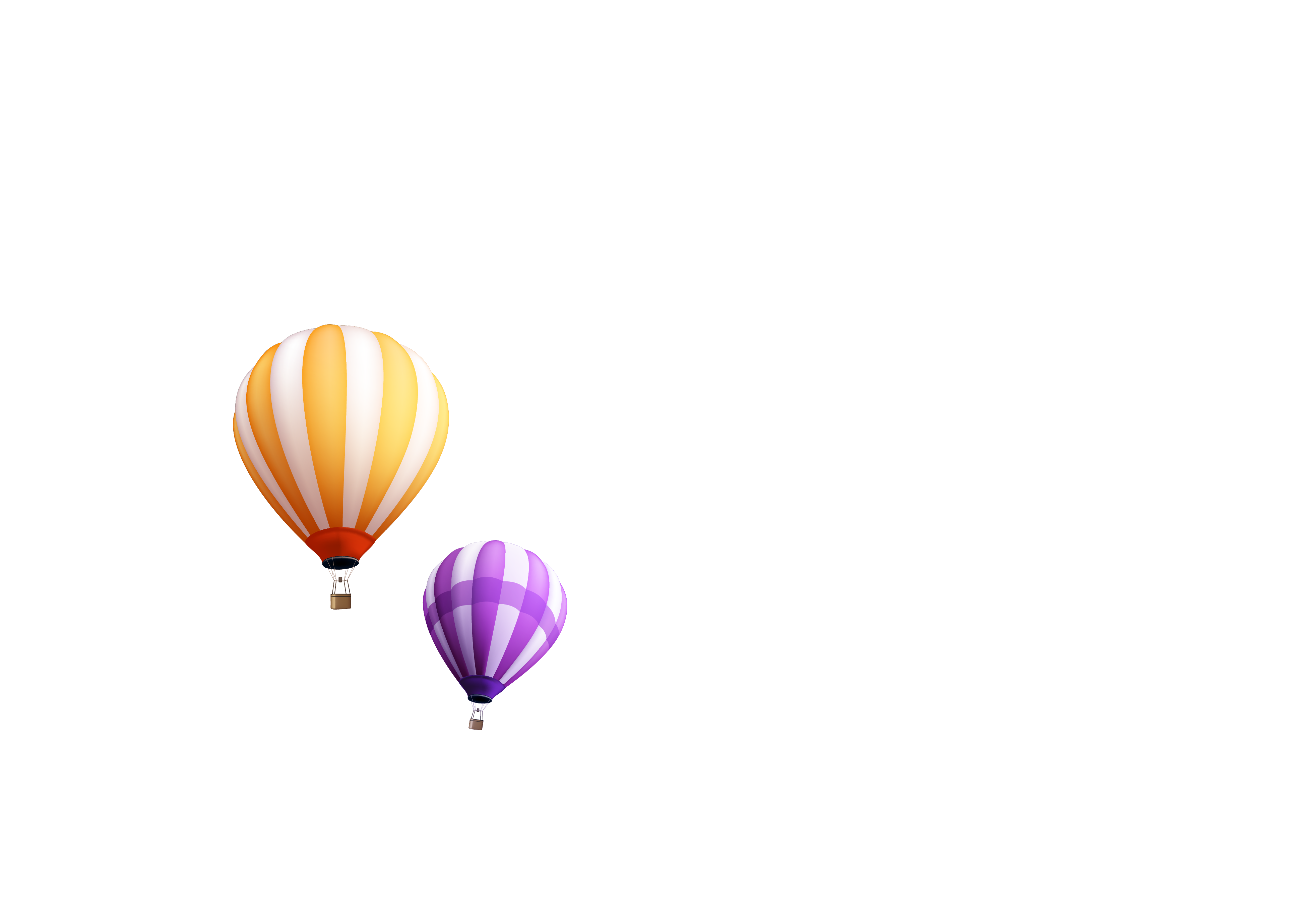 transparent library Vector color cloud. Hot air balloon aviation