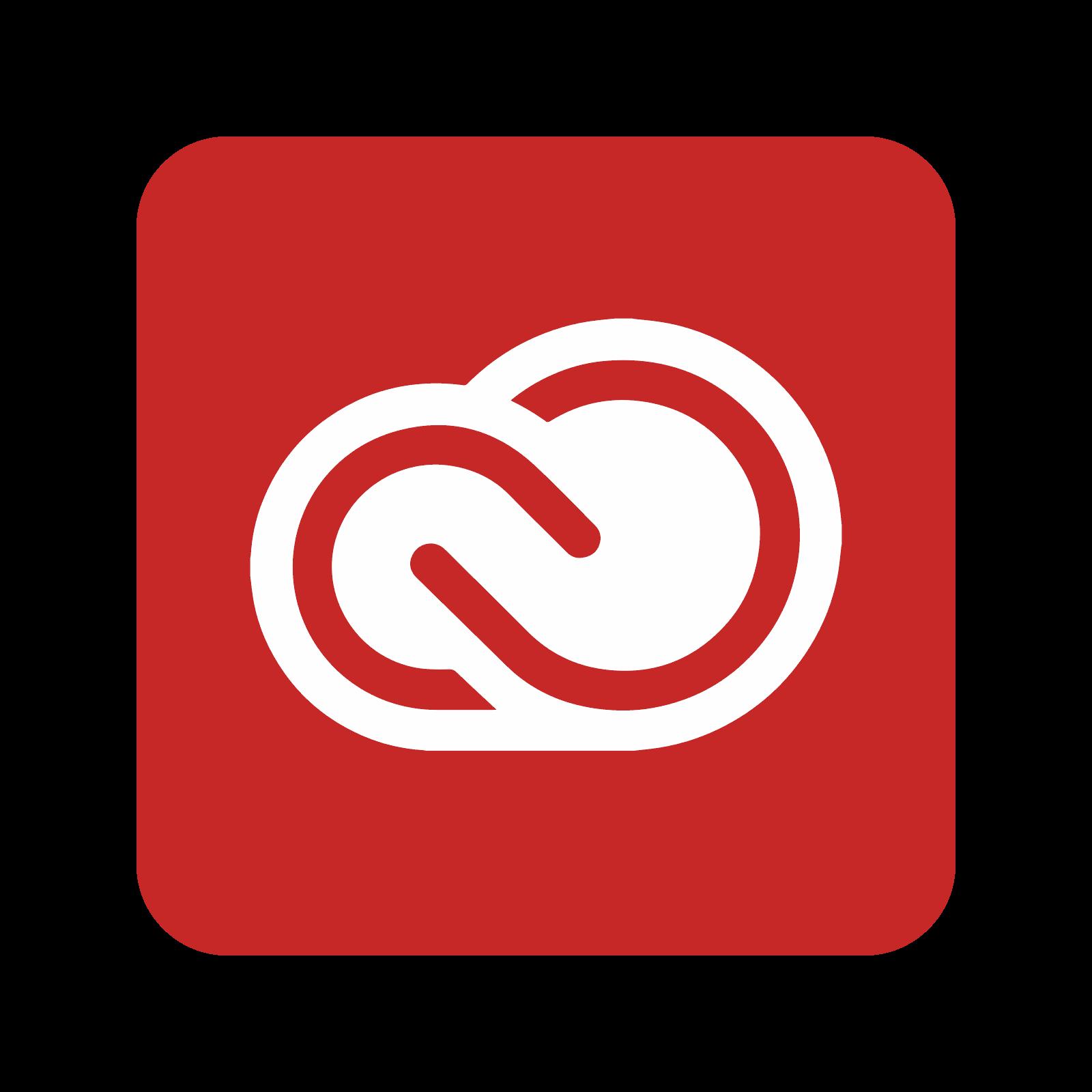 freeuse stock Adobe cloud icon free. Vector color creative