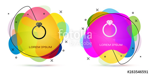 svg library Vector color diamond. Engagement ring icon isolated