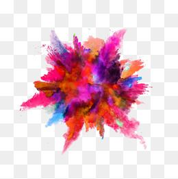 graphic Png images in colorful. Vector color dust