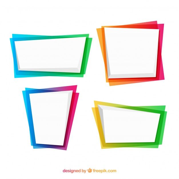 picture free stock Set of frames in. Vector color frame
