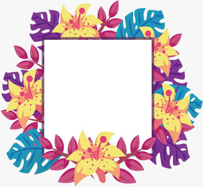 vector royalty free download Vector color frame. Leaves decorative