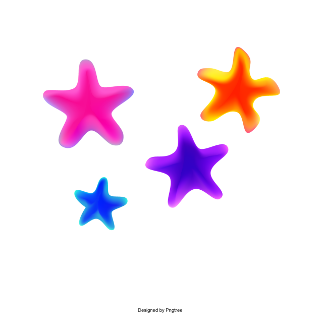 graphic royalty free library Colorful flat geometry stars. Vector color geometric