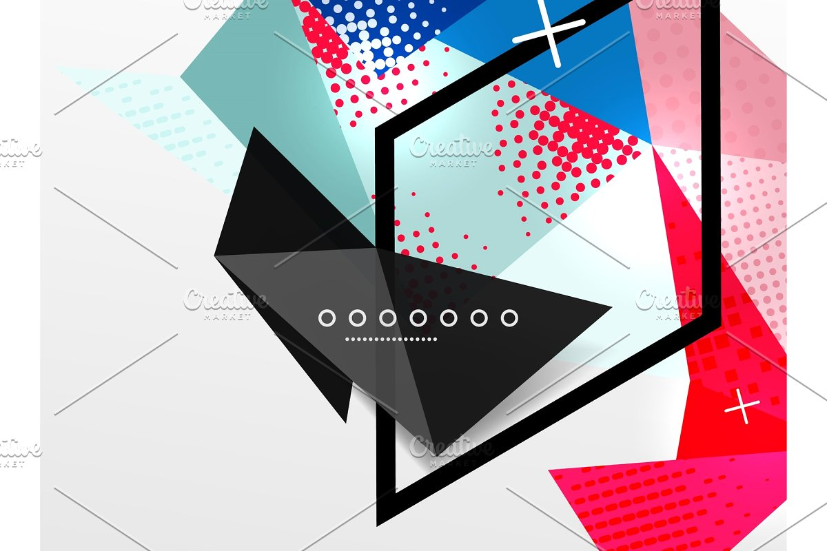 svg library download Abstract composition triangular and. Vector color geometric