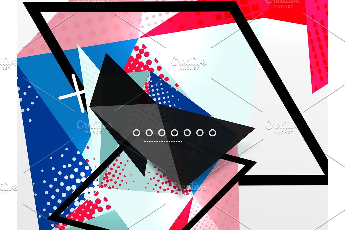 svg library download Vector color geometric. Abstract composition triangular and