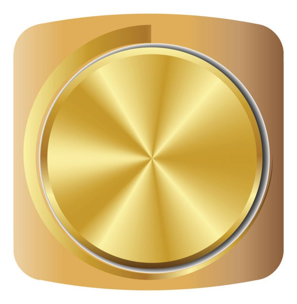 image free library Vector color gold. Metallic volume knob material