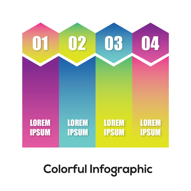 clip freeuse Abstract info graphics step. Vector color gradient