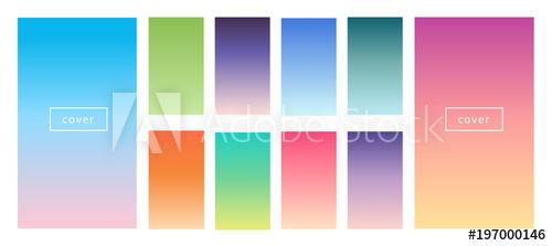 free download Pastel tender backgrounds screen. Vector color gradient