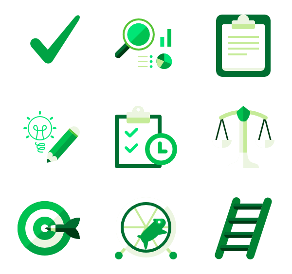 banner royalty free download Essential icon family icons. Vector color green