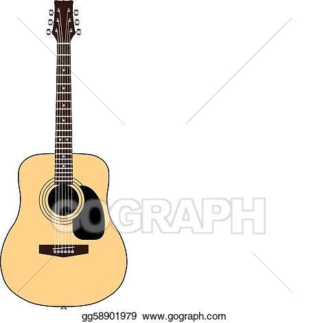 clip royalty free download Illustration acoustic stock clip. Vector color guitar