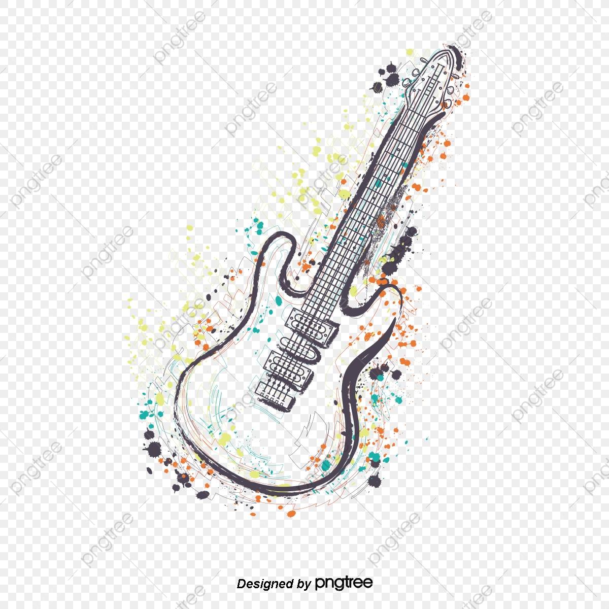 jpg library stock Vector color guitar. Art png