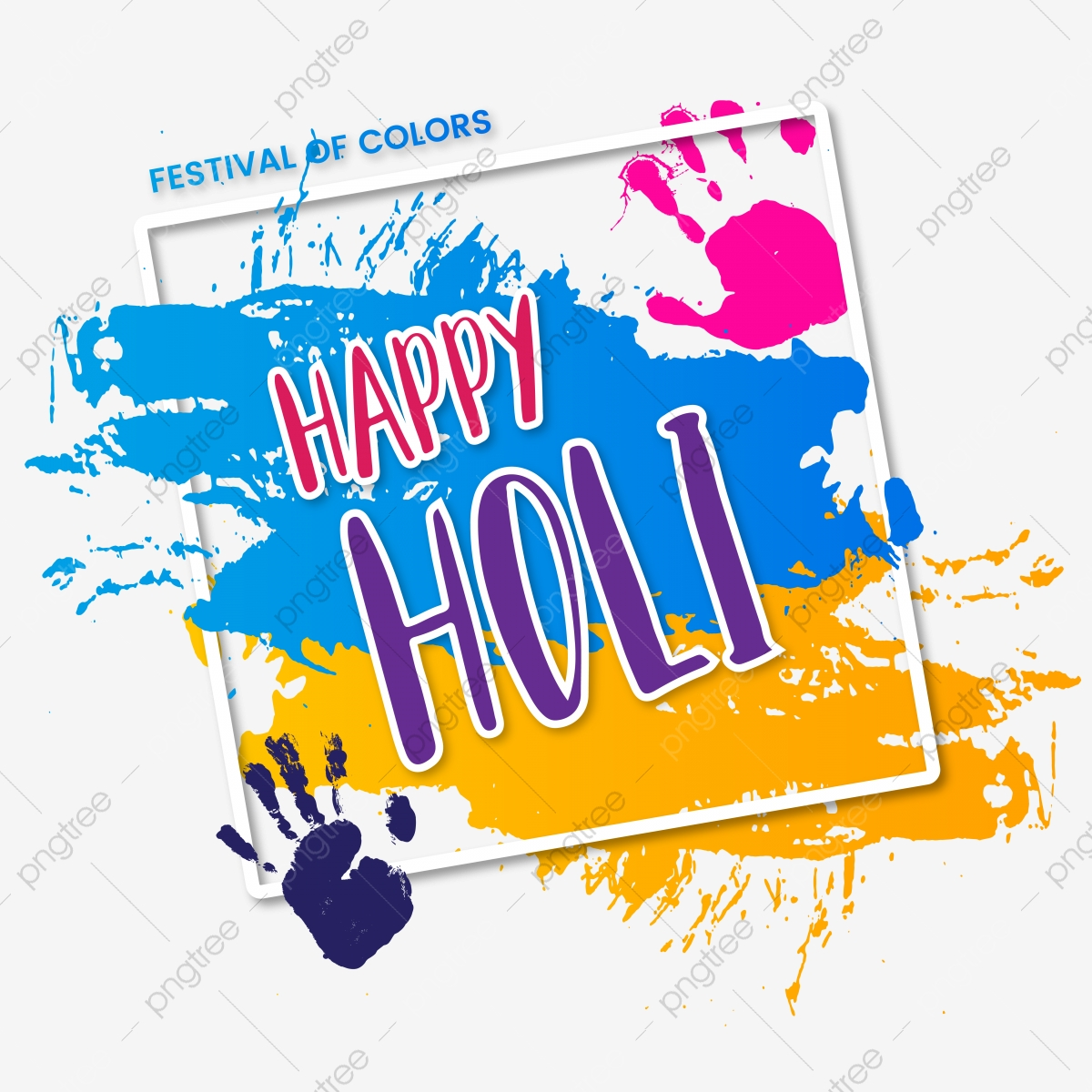 free download Vector color happy. Festival of colors holi