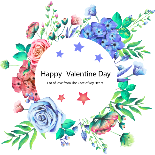 graphic Vector color happy. Valentine day beautiful frame