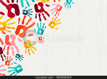 clipart free download Hand print background art. Vector color human