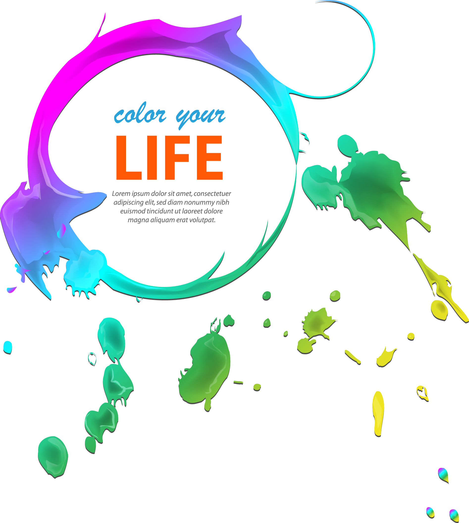 jpg free library Vector color life. Brochure printing graphic design