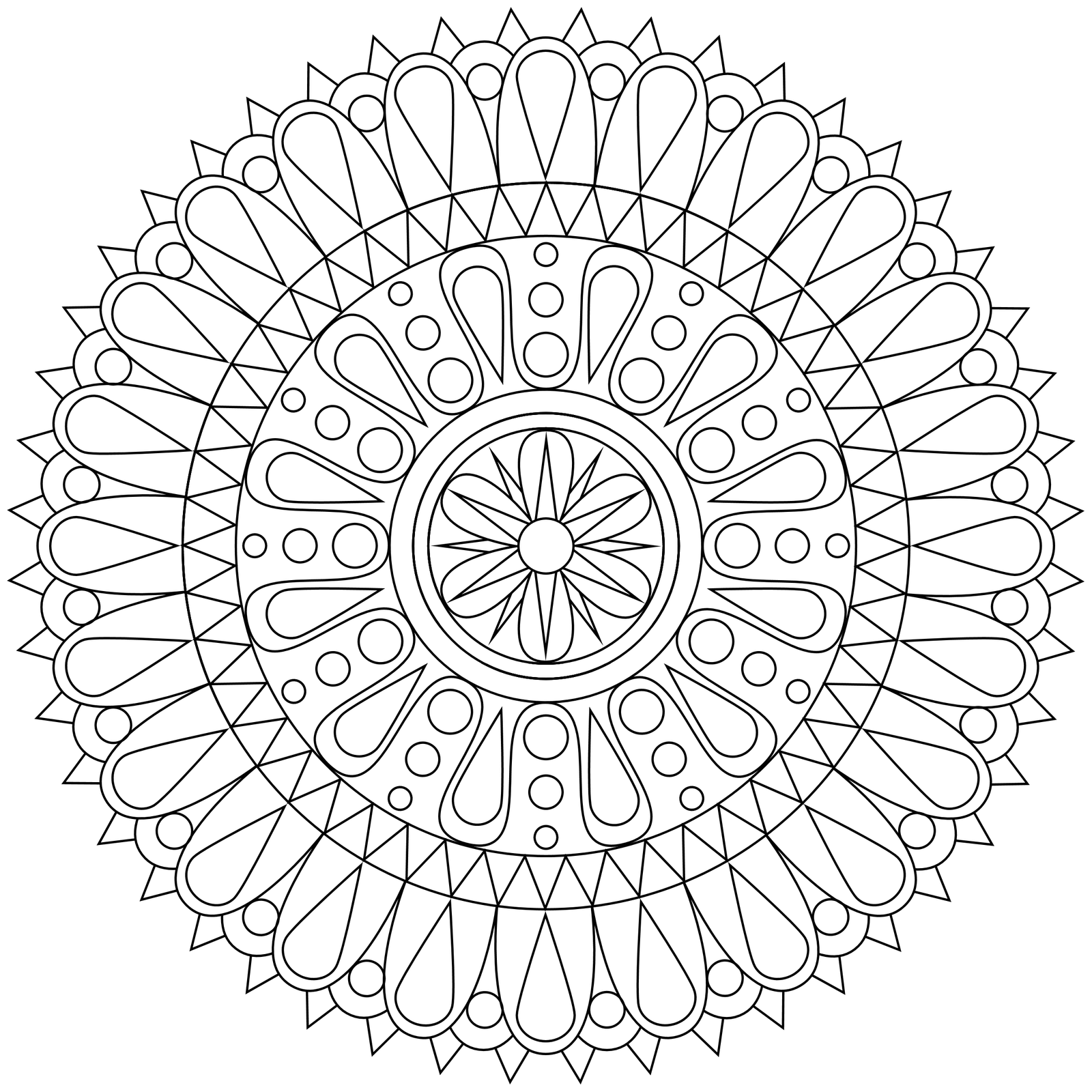 clipart library List of coloring hd. Vector color mandala