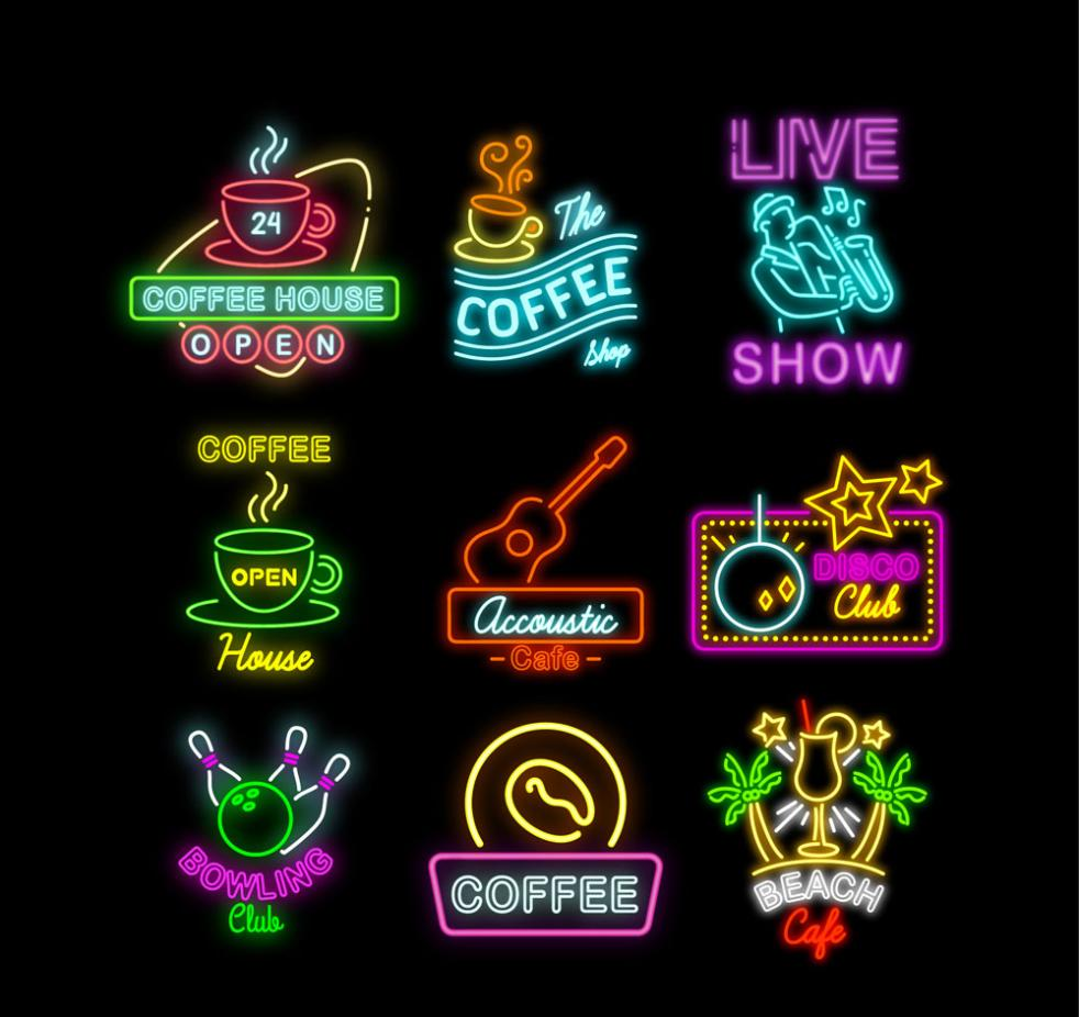 graphic transparent Vector color neon.  signs free graphic