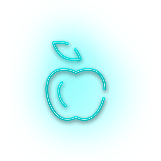 image royalty free library Blue apple icon transparent. Vector color neon