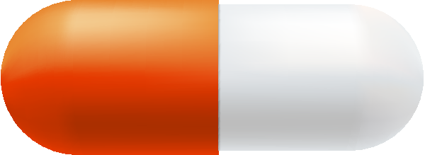 clipart royalty free download Vector color orange. And white capsule free