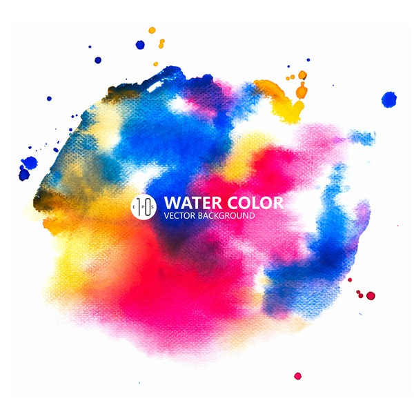 picture transparent download Vector color painting. Water paint background download
