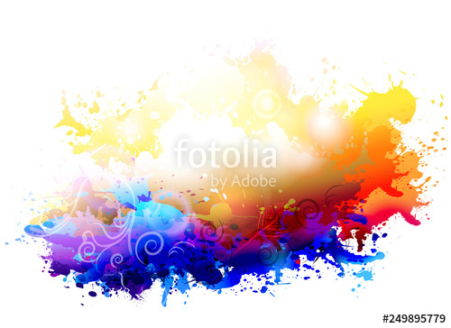 picture library stock Vector color painting. Abstract splash stock image