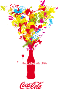 transparent Vector color splash. Coca cola logo pdf