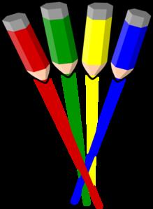 graphic freeuse download Pencil straight clip art. Vector color stripes