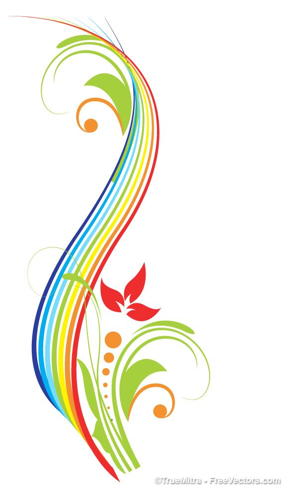 image library library Vector color swirl. Flourish elements rainbow glass