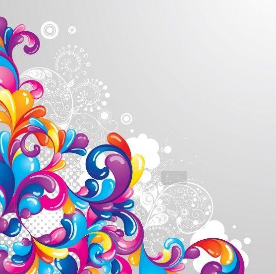 clip art black and white library Vector color swirl. Free retro swirls