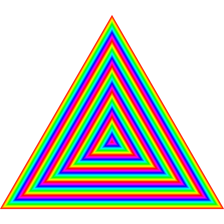 vector free library  rainbow by binary. Vector color triangle