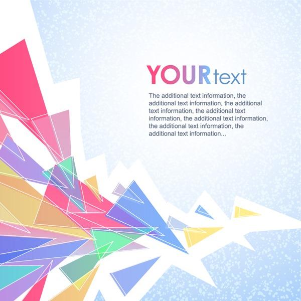 vector download Vector color triangle. Fresh debris background material