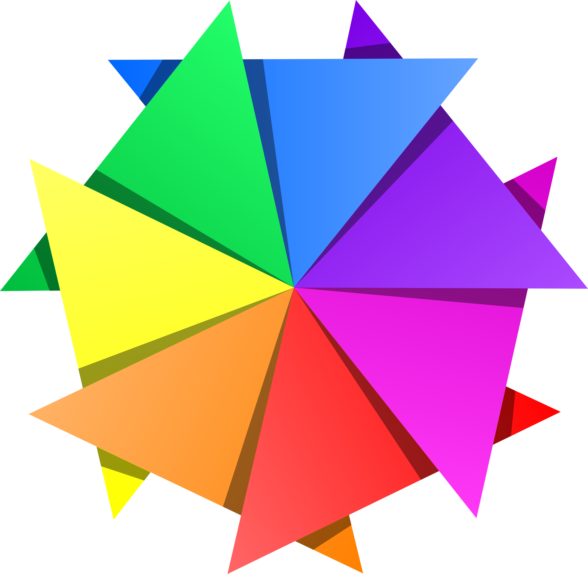 jpg transparent library Vector color triangle. Star icons png free