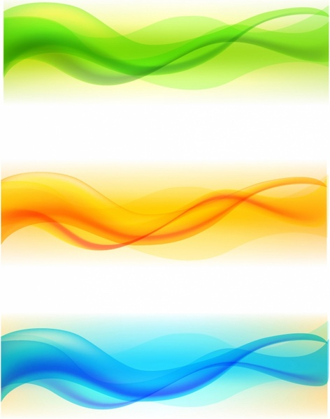image transparent Vector color wave. Set of free in