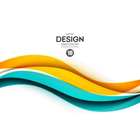 banner transparent library Abstract smooth curve flow. Vector color wave