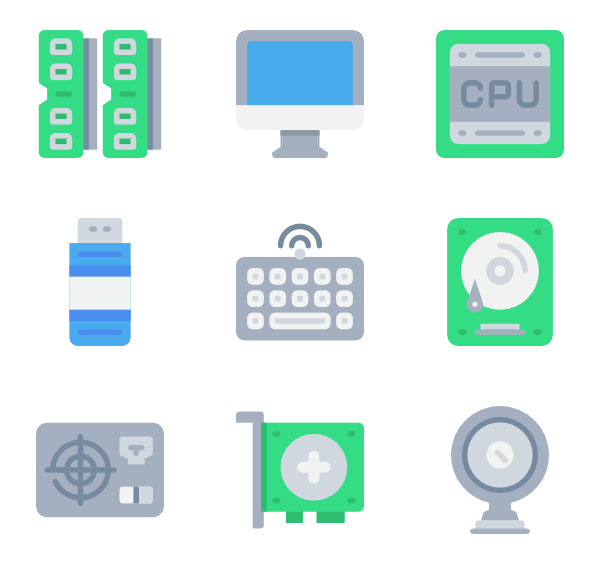 jpg free Vector computer. Hardware icons free