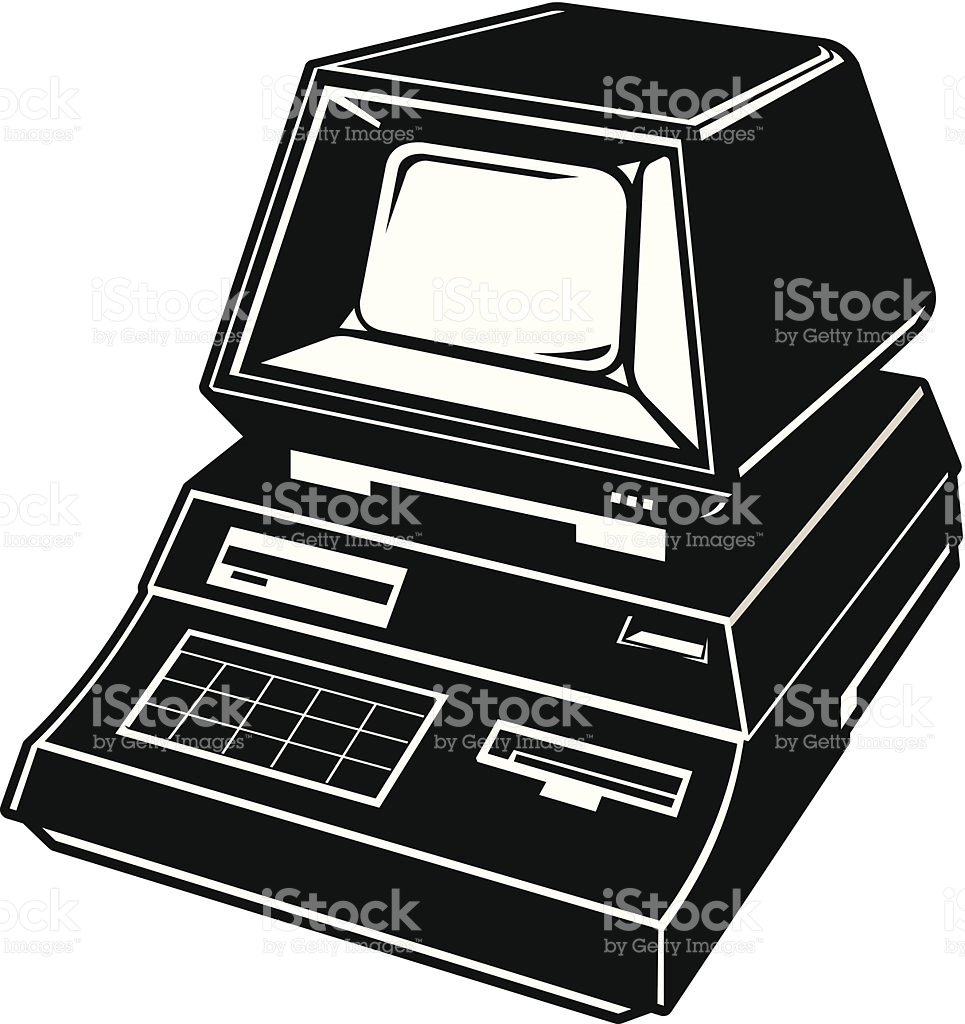 jpg free library Old icon free icons. Vector computer 80's