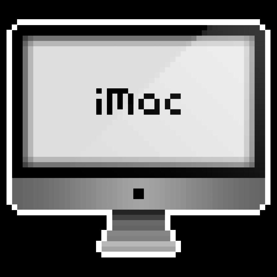 svg royalty free  bit imac avatar. Vector computer art