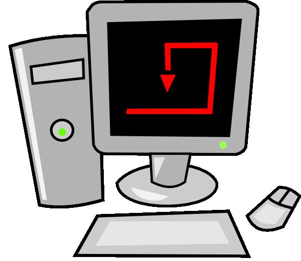 clipart freeuse Vector computer art. Free cartoon desktop clip