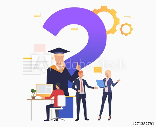 vector library stock Vector computer helpdesk. Man working with people