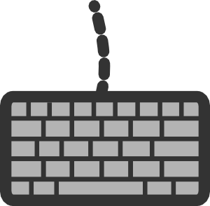clip black and white stock Keyboard Clip Art at Clker